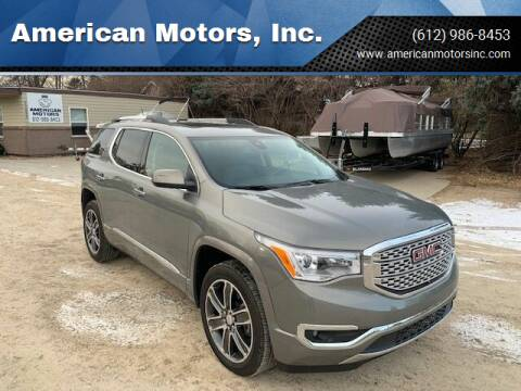2019 GMC Acadia for sale at American Motors, Inc. in Farmington MN