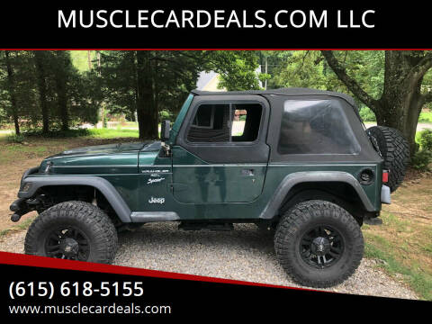 2000 Jeep Wrangler for sale at MUSCLECARDEALS.COM LLC in White Bluff TN