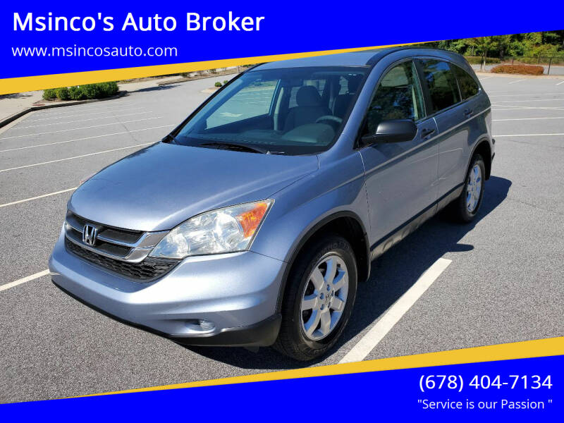 2011 Honda CR-V for sale at Msinco's Auto Broker in Snellville GA