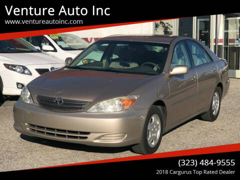 2003 Toyota Camry for sale at Venture Auto Inc in South Gate CA