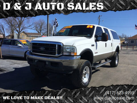2004 Ford F-250 Super Duty for sale at D & J AUTO SALES in Joplin MO
