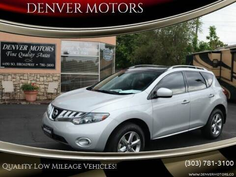 2010 Nissan Murano for sale at DENVER MOTORS in Englewood CO