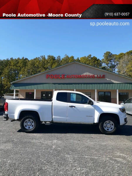2018 Chevrolet Colorado for sale at Poole Automotive in Laurinburg NC