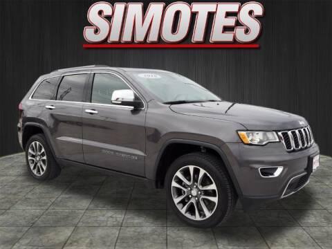 2018 Jeep Grand Cherokee for sale at SIMOTES MOTORS in Minooka IL