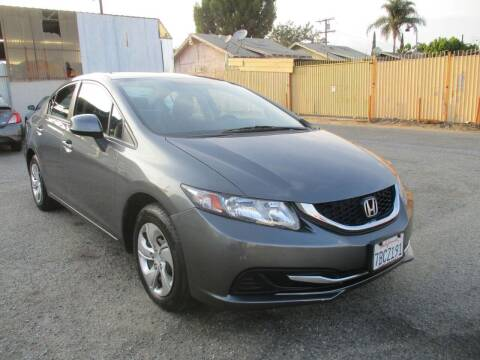 2013 Honda Civic for sale at E and M Auto Sales in Bloomington CA