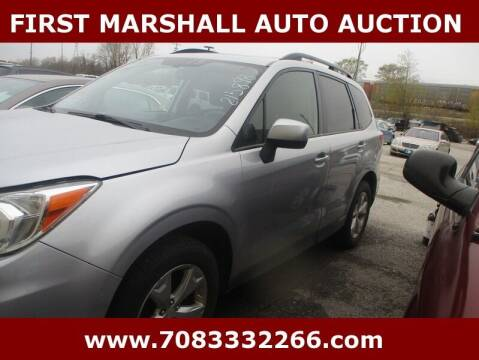 2015 Subaru Forester for sale at First Marshall Auto Auction in Harvey IL