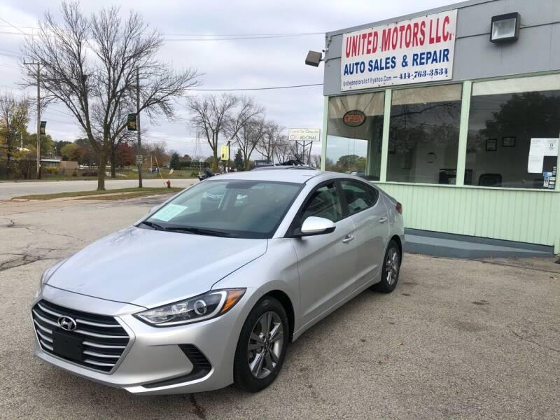 2018 Hyundai Elantra for sale at United Motors LLC in Saint Francis WI