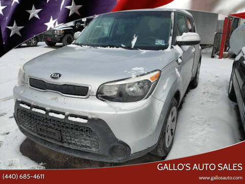 2014 Kia Soul for sale at Gallo's Auto Sales in North Bloomfield OH