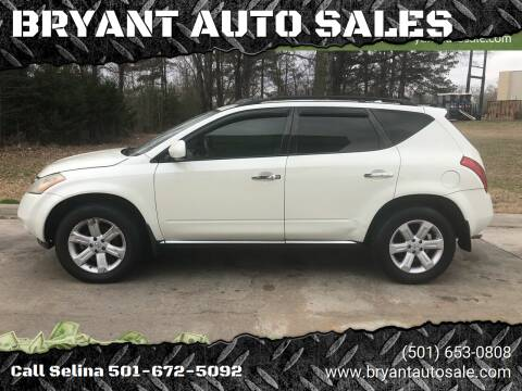 2007 Nissan Murano for sale at BRYANT AUTO SALES in Bryant AR