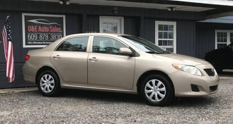 2009 Toyota Corolla for sale at O & E Auto Sales in Hammonton NJ