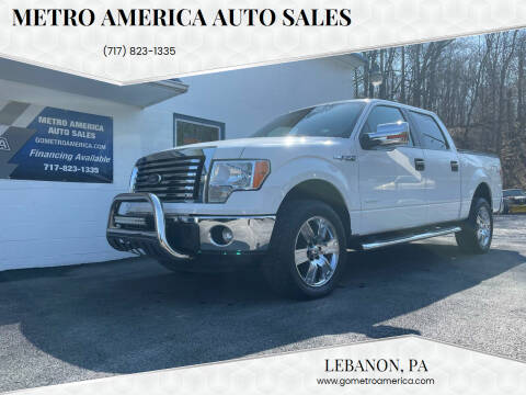 2012 Ford F-150 for sale at METRO AMERICA AUTO SALES of Lebanon in Lebanon PA