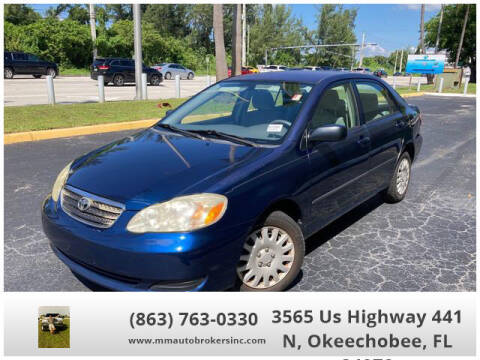 2007 Toyota Corolla for sale at M & M AUTO BROKERS INC in Okeechobee FL
