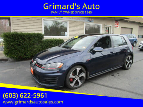 2017 Volkswagen Golf GTI for sale at Grimard's Auto in Hooksett, NH