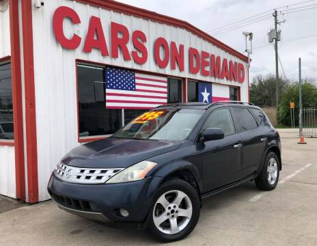 2004 Nissan Murano for sale at Cars On Demand 2 in Pasadena TX