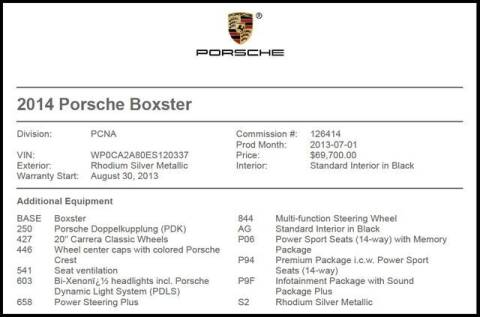 2014 Porsche Boxster for sale at RAC Performance in Carrollton TX