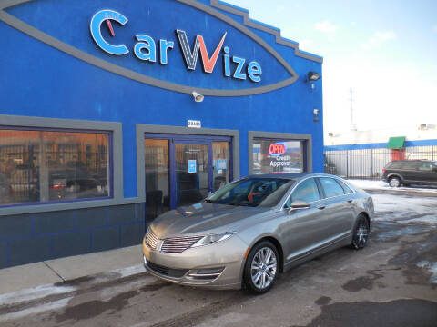 2015 Lincoln MKZ for sale at Carwize in Detroit MI