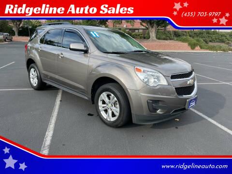 2011 Chevrolet Equinox for sale at Ridgeline Auto Sales in Saint George UT