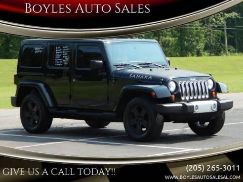2012 Jeep Wrangler Unlimited for sale at Boyles Auto Sales in Jasper AL