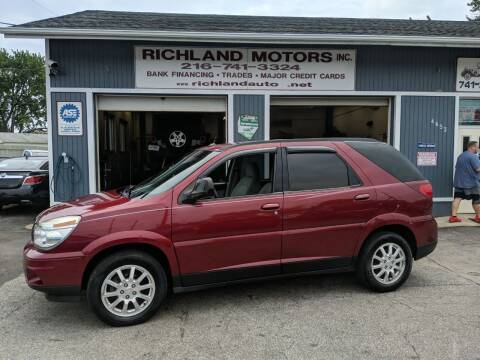 2007 Buick Rendezvous for sale at Richland Motors in Cleveland OH