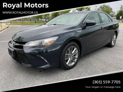 2015 Toyota Camry Hybrid for sale at Royal Motors in Hyattsville MD