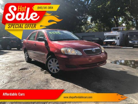 2006 Toyota Corolla for sale at Affordable Cars in Kingston NY