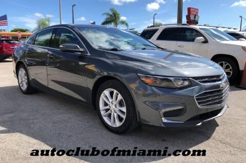 2016 Chevrolet Malibu for sale at AUTO CLUB OF MIAMI, INC in Miami FL