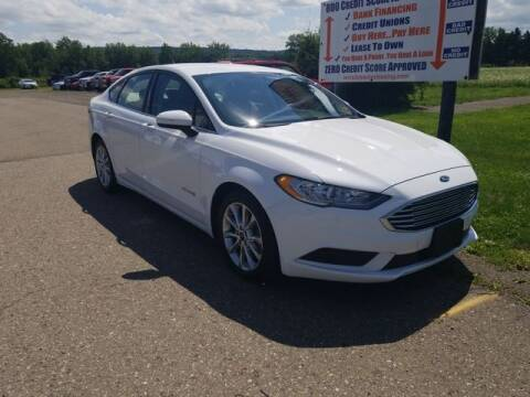 2017 Ford Fusion Hybrid for sale at Sensible Sales & Leasing in Fredonia NY