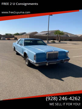 1978 Lincoln Continental for sale at FREE 2 U Consignments in Yuma AZ