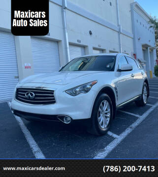 2014 Infiniti QX70 for sale at Maxicars Auto Sales in West Park FL