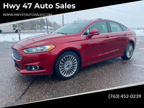 2014 Ford Fusion for sale at Hwy 47 Auto Sales in Saint Francis MN