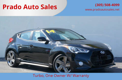 2014 Hyundai Veloster Turbo for sale at Prado Auto Sales in Miami FL