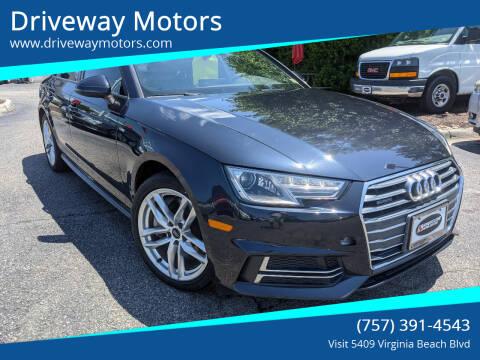 2017 Audi A4 for sale at Driveway Motors in Virginia Beach VA