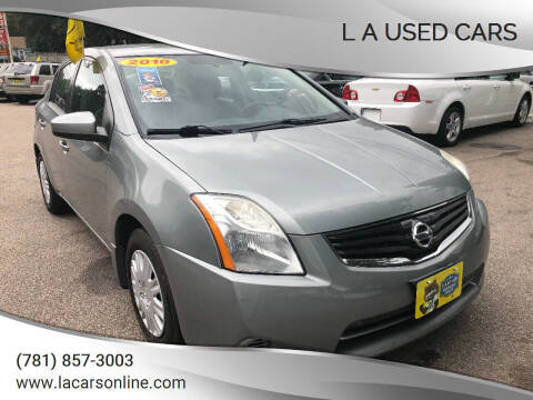 2010 Nissan Sentra for sale at L A Used Cars in Abington MA