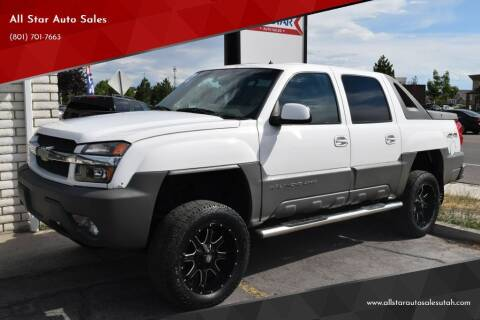 2002 Chevrolet Avalanche for sale at All Star Auto Sales in Pleasant Grove UT