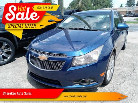 2012 Chevrolet Cruze for sale at Cherokee Auto Sales in Acworth GA