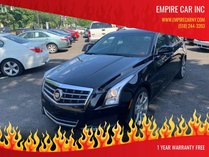 2013 Cadillac ATS for sale at EMPIRE CAR INC in Troy NY