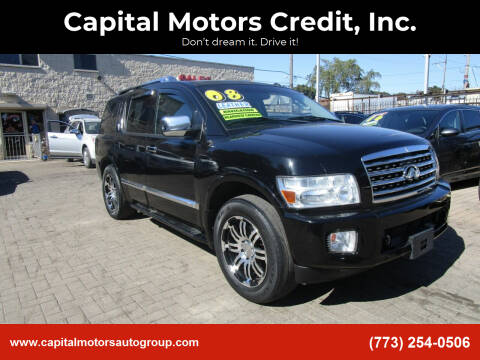 2008 Infiniti QX56 for sale at Capital Motors Credit, Inc. in Chicago IL