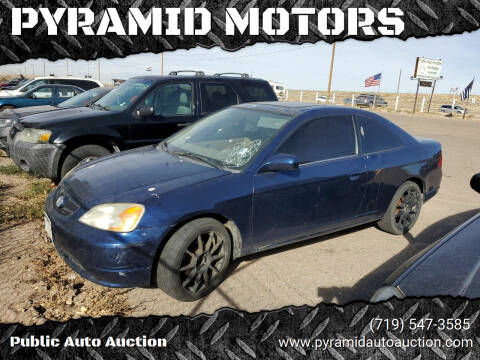 2001 Honda Civic for sale at PYRAMID MOTORS - Pueblo Lot in Pueblo CO