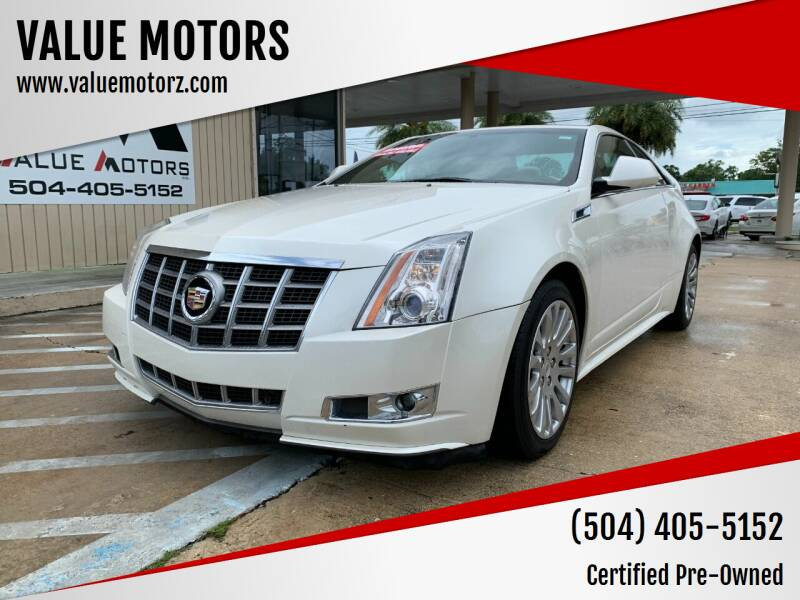 2012 Cadillac CTS for sale at VALUE MOTORS in Kenner LA