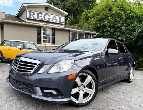 2011 Mercedes-Benz E-Class for sale at Regal Auto Sales in Marietta GA