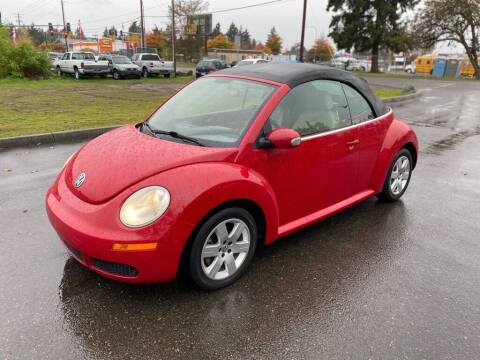 2007 Volkswagen New Beetle Convertible for sale at Apex Motors Parkland in Tacoma WA