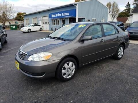 2007 Toyota Corolla for sale at Best Price Autos in Two Rivers WI