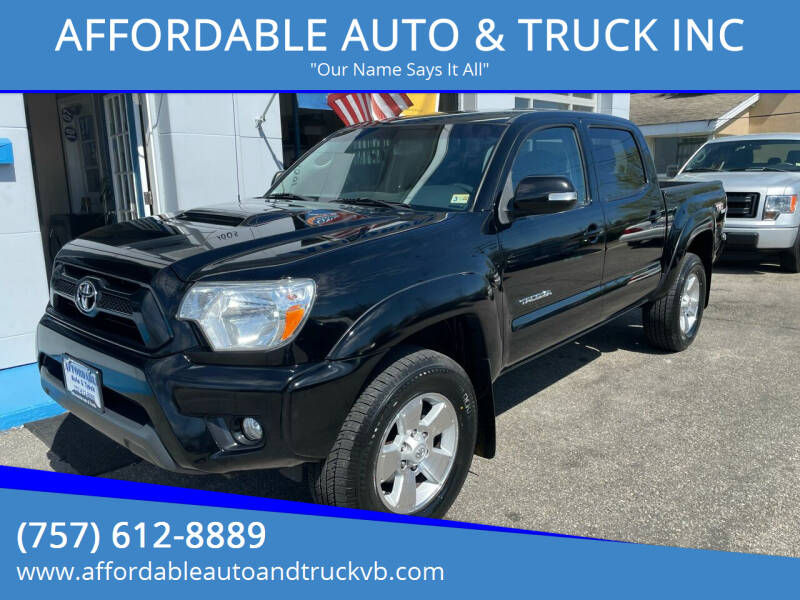 2013 Toyota Tacoma for sale at AFFORDABLE AUTO & TRUCK INC in Virginia Beach VA