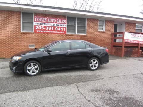 2012 Toyota Camry for sale at Colvin Auto Sales in Tuscaloosa AL