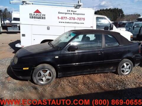 2000 Volkswagen Cabrio for sale at East Coast Auto Source Inc. in Bedford VA