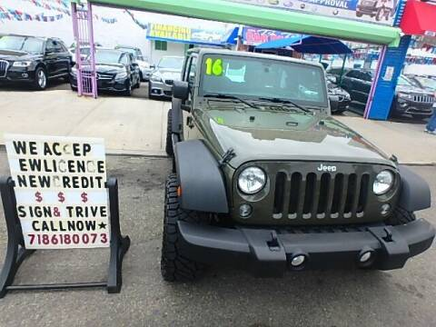 2016 Jeep Wrangler Unlimited for sale at 4530 Tip Top Car Dealer Inc in Bronx NY