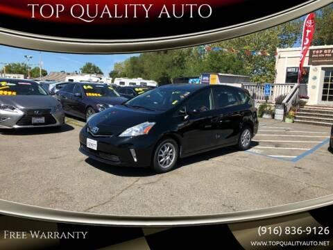 2013 Toyota Prius v for sale at TOP QUALITY AUTO in Rancho Cordova CA