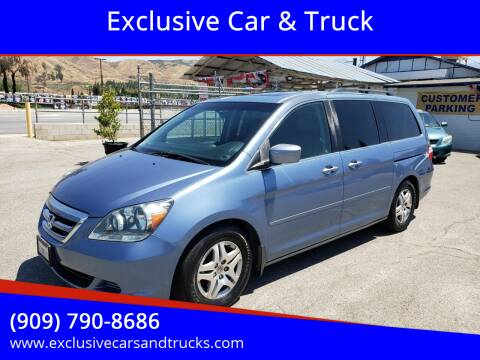 2007 Honda Odyssey for sale at Exclusive Car & Truck in Yucaipa CA