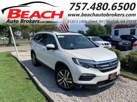 2016 Honda Pilot for sale at Beach Auto Brokers in Norfolk VA