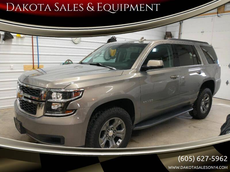 2018 Chevrolet Tahoe for sale at Dakota Sales & Equipment in Arlington SD